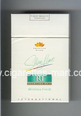 R 1 (design 3) (American Blend / Slim Line / Minima Fresh / International) ( hard box cigarettes )