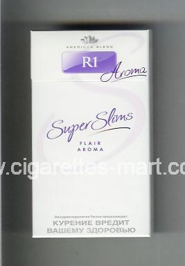 R 1 (design 4) (Super Slims / American Blend / Aroma / Flair Aroma) ( hard box cigarettes )