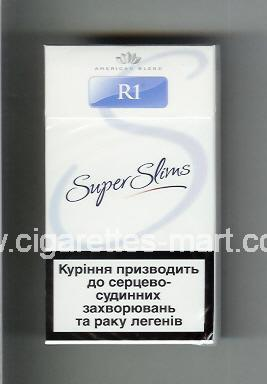 R 1 (design 4) (Super Slims / American Blend) ( hard box cigarettes )