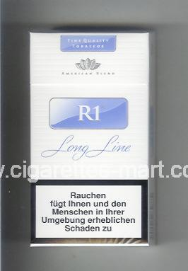 R 1 (design 5) (American Blend) (white & blue) ( hard box cigarettes )