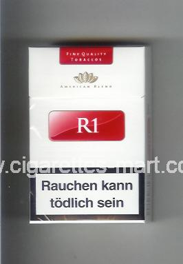 R 1 (design 5) (American Blend) (white & red) ( hard box cigarettes )