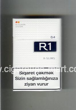 R 1 (design 6) (0,4 / X-Slim) ( hard box cigarettes )