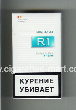R 1 (design 6) (Minima 0,1 / Superslims / Fresh) ( hard box cigarettes )