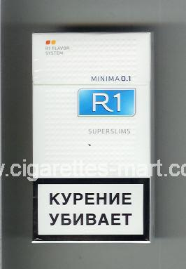 R 1 (design 6) (Minima 0,1 / Superslims) ( hard box cigarettes )