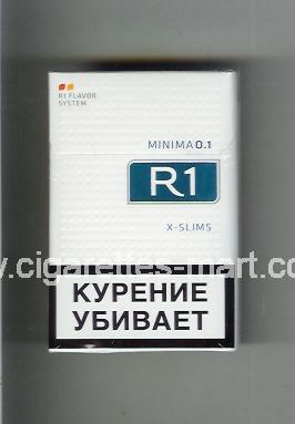 R 1 (design 6) (Minima 0,1 / X-Slim) ( hard box cigarettes )
