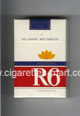 R 6 (design 5) (International / Full Flavour - Mild Tobaccos / Flavour Mild) ( hard box cigarettes )
