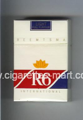 R 6 (design 7) (International / Light / Full Flavour) ( hard box cigarettes )