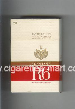 R 6 (design 8A) (Extra - Leicht) ( hard box cigarettes )