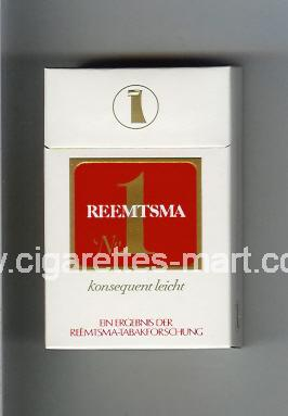 Reemtsma (design 1) No 1 (Konsequent Leicht) ( hard box cigarettes )