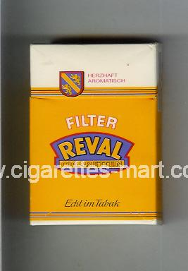 Reval (design 1) (Filter / Cigaretten / Echt im Tabak) ( hard box cigarettes )