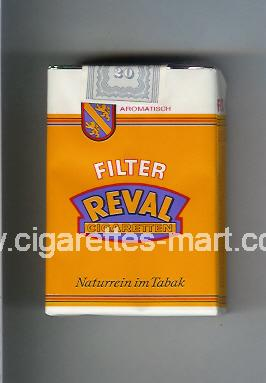 Reval (design 1) (Filter / Cigaretten / Naturrein im Tabak) ( soft box cigarettes )