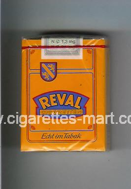 Reval (design 2) (Cigaretten / Echt im Tabak) ( soft box cigarettes )