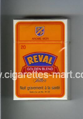 Reval (design 3) (Golden Blend / Filter / Arome Mur) ( hard box cigarettes )