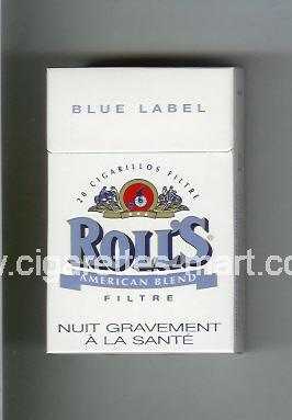 Roll`s (design 1A) (Blue Label / American Blend) ( hard box cigarettes )
