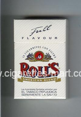 Roll`s (design 1A) (Full Flavour / American Blend) ( hard box cigarettes )