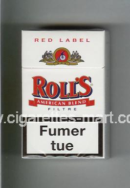 Roll`s (design 1A) (Red Label / American Blend) ( hard box cigarettes )