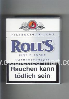 Roll`s (design 2) (Fine Flavour / Naturdeckblatt / Filter Cigarillos) ( hard box cigarettes )