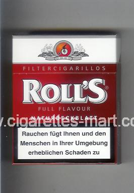 Roll`s (design 2) (Full Flavour / Naturdeckblatt / Filter Cigarillos) ( hard box cigarettes )