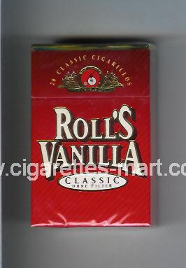 Roll`s (design 3) Vanilla (Classic) ( hard box cigarettes )