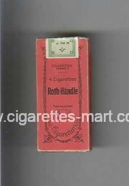 Roth-Handle ( hard box cigarettes )