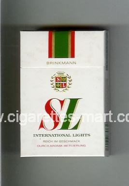 SL (german version) (International Lights) ( hard box cigarettes )