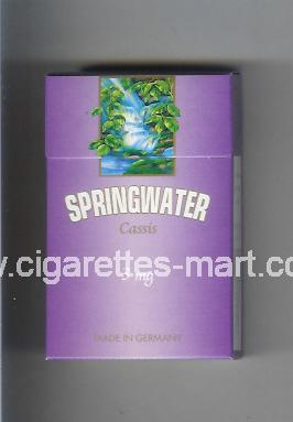Springwater (design 1) (Cassis / 3 mg) ( hard box cigarettes )