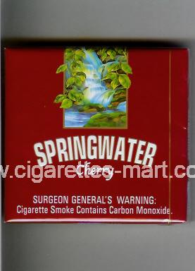 Springwater (design 1) (Cherry) ( box cigarettes )