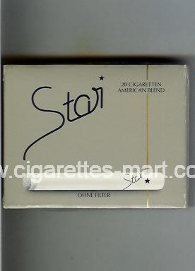 Star (german version) (American Blend / Ohne Filter) ( box cigarettes )