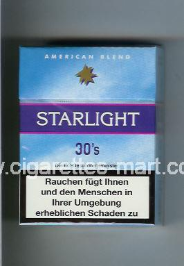 Starlight (design 1) (American Blend) ( hard box cigarettes )