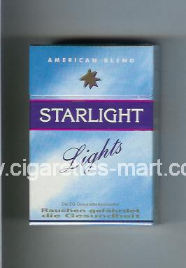 Starlight (design 1) (Lights / American Blend) ( hard box cigarettes )