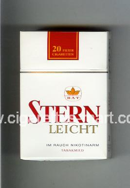 Stern (design 2) (Leicht) ( hard box cigarettes )