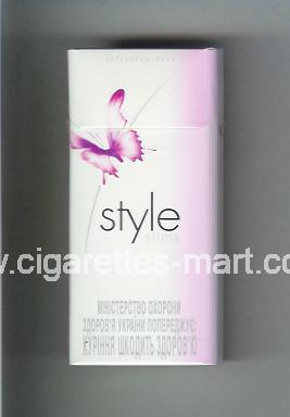 Style (german version) (design 2) (Selection Rose / Slims) ( hard box cigarettes )