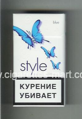 Style (german version) (design 2A) (Super Slims / Blue) ( hard box cigarettes )