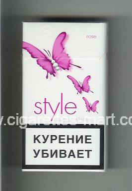 Style (german version) (design 2A) (Super Slims / Rose) ( hard box cigarettes )