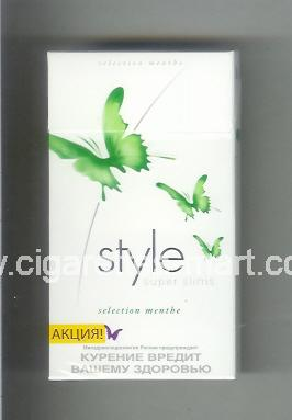 Style (german version) (design 2A) (Super Slims / Selection Menthe) (Aktsia) (T) ( hard box cigarettes )