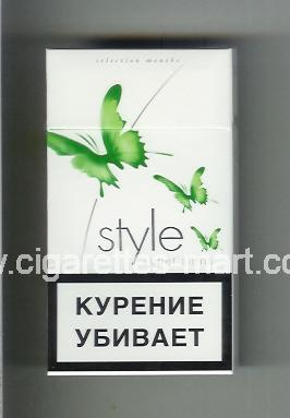 Style (german version) (design 2A) (Super Slims / Selection Menthe) ( hard box cigarettes )