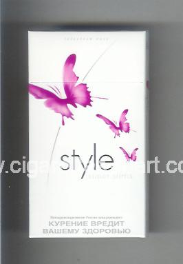 Style (german version) (design 2A) (Super Slims / Selection Rose) ( hard box cigarettes )
