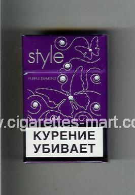 Style (german version) (design 3) (Purple Diamond) ( hard box cigarettes )