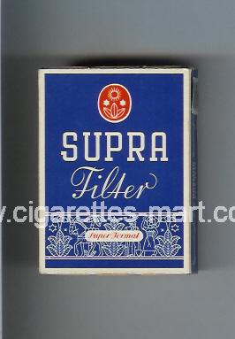 Supra (design 1A) (Filter / Super Format) ( hard box cigarettes )