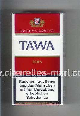Tawa (design 2A) (white & red) ( hard box cigarettes )