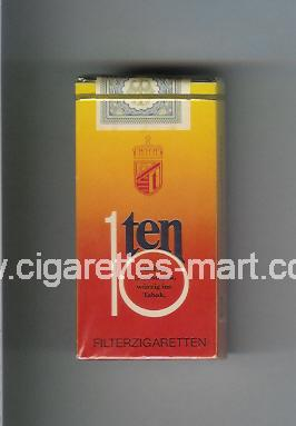 Ten 10 ( hard box cigarettes )