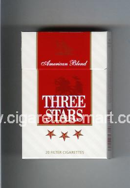 Three Stars (german version) (design 1) (American Blend) ( hard box cigarettes )