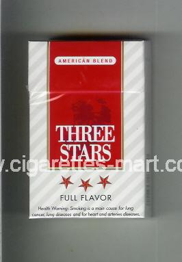 Three Stars (german version) (design 1B) (American Blend / Full Flavor) ( hard box cigarettes )