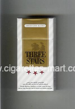 Three Stars (german version) (design 1B) (American Blend) ( hard box cigarettes )