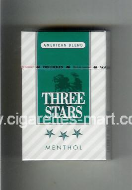 Three Stars (german version) (design 1B) (American Blend / Menthol) ( hard box cigarettes )