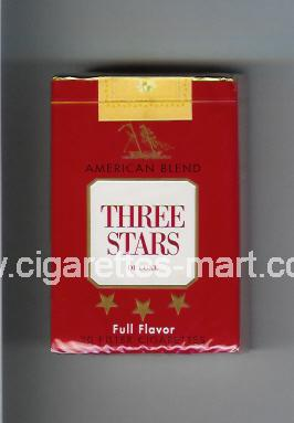 Three Stars (german version) (design 2) (American Blend / Full Flavor / De Luxe) ( soft box cigarettes )