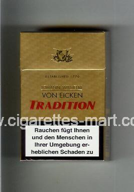 Tradition (german version) Von Eicken ( hard box cigarettes )