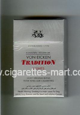 Tradition (german version) Von Eicken (Lights / Light Virginia Blend) ( hard box cigarettes )