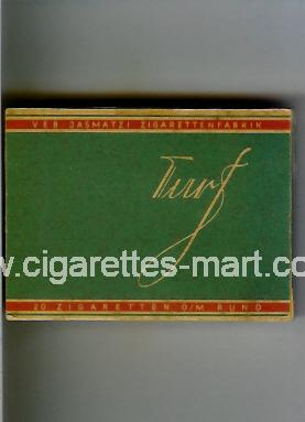 Turf (german version) (design 1) (green & red) ( box cigarettes )