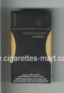 Von Eicken (design 2) (Superior / Superslims) ( hard box cigarettes )
